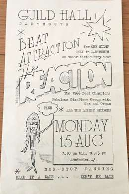 Flyer/ad - The Reaction in Dartmouth on 15.08.1966