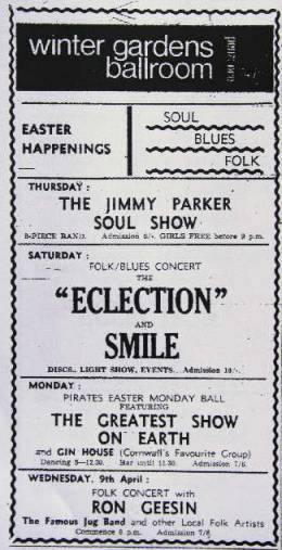 Flyer/ad - Smile in Penzance on 05.04.1969
