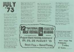 Flyer/ad - Marquee 1973 flyer with Queen