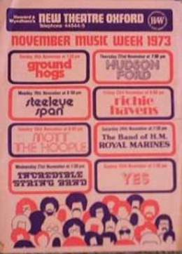 Flyer/ad - Queen in Oxford on 20.11.1973