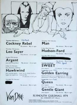 Flyer/ad - Queen in Plymouth on 3.3.1974