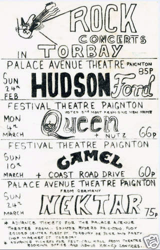 Queen in Paignton on 4.3.1974