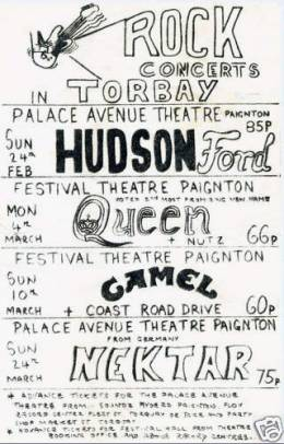 Flyer/ad - Queen in Paignton on 4.3.1974