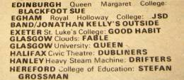 Flyer/ad - Queen in Glasgow on 15.3.1974