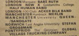 Flyer/ad - Queen in Manchester on 20.3.1974