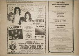 Flyer/ad - Queen in New York in May 1974