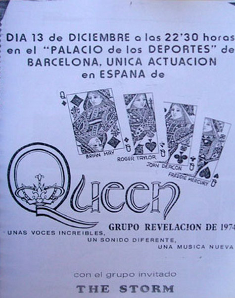 Queen in Barcelona on 13.12.1974