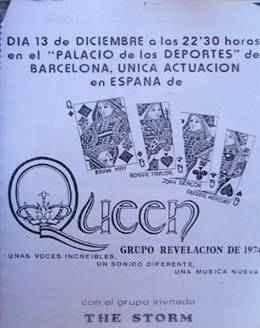 Flyer/ad - Queen in Barcelona on 13.12.1974