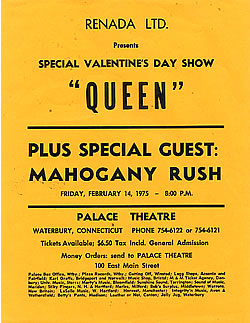 Queen in Waterbury on 14.2.1975