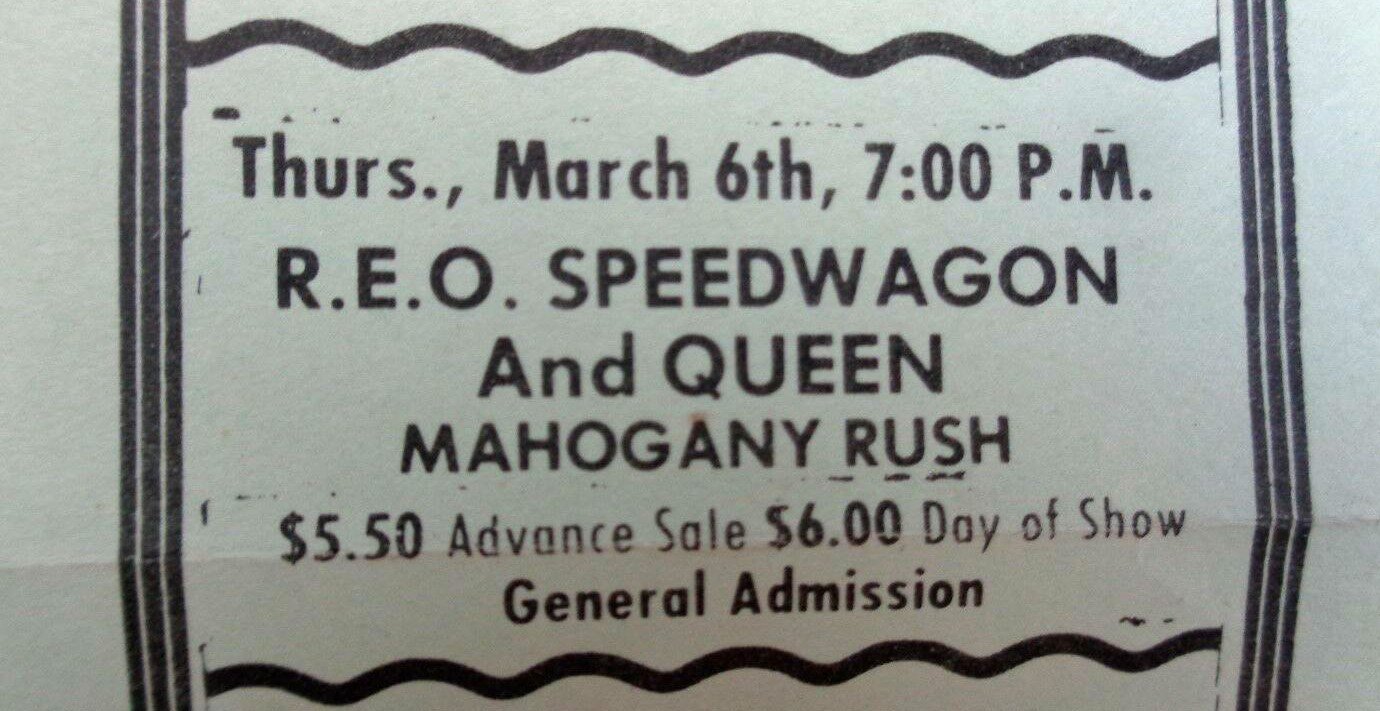 Queen in Madison on 06.03.1975