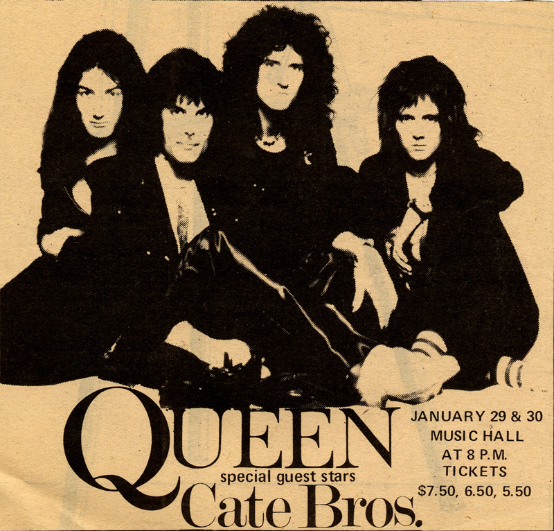 Queen in Boston on 30.1.1976