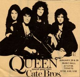 Flyer/ad - Queen in Boston on 30.1.1976