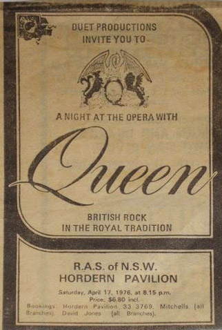 Queen in Sydney on 17.4.1976