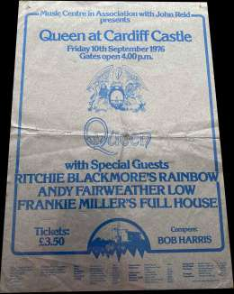 Flyer/ad - Queen in Cardiff on 10.09.1976