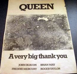 Flyer/ad - after Queen in Hyde Park on 18.9.1976