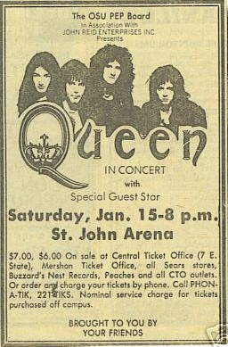 Queen in Columbus on 15.1.1977