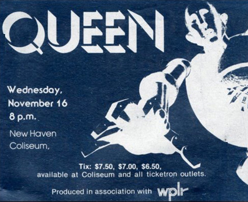 Queen in New Haven on 16.11.1977