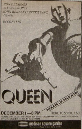 Queen in New York on 1.12.1977