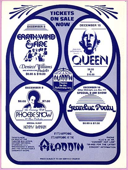 Queen in Las Vegas on 15.12.1977