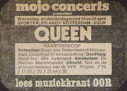 Flyer/ad - Queen in Rotterdam on 19.-20.4.1978