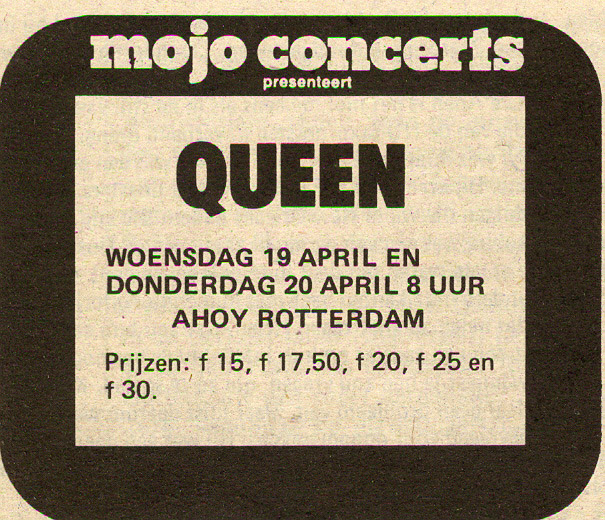 Queen in Rotterdam on 19.-20.4.1978