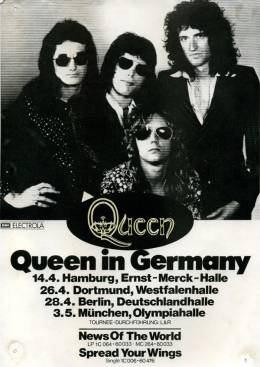 Flyer/ad - Queen in Germany in April/May 1978