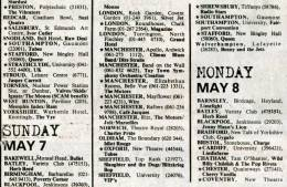 Flyer/ad - Queen in Stafford on 07.05.1978