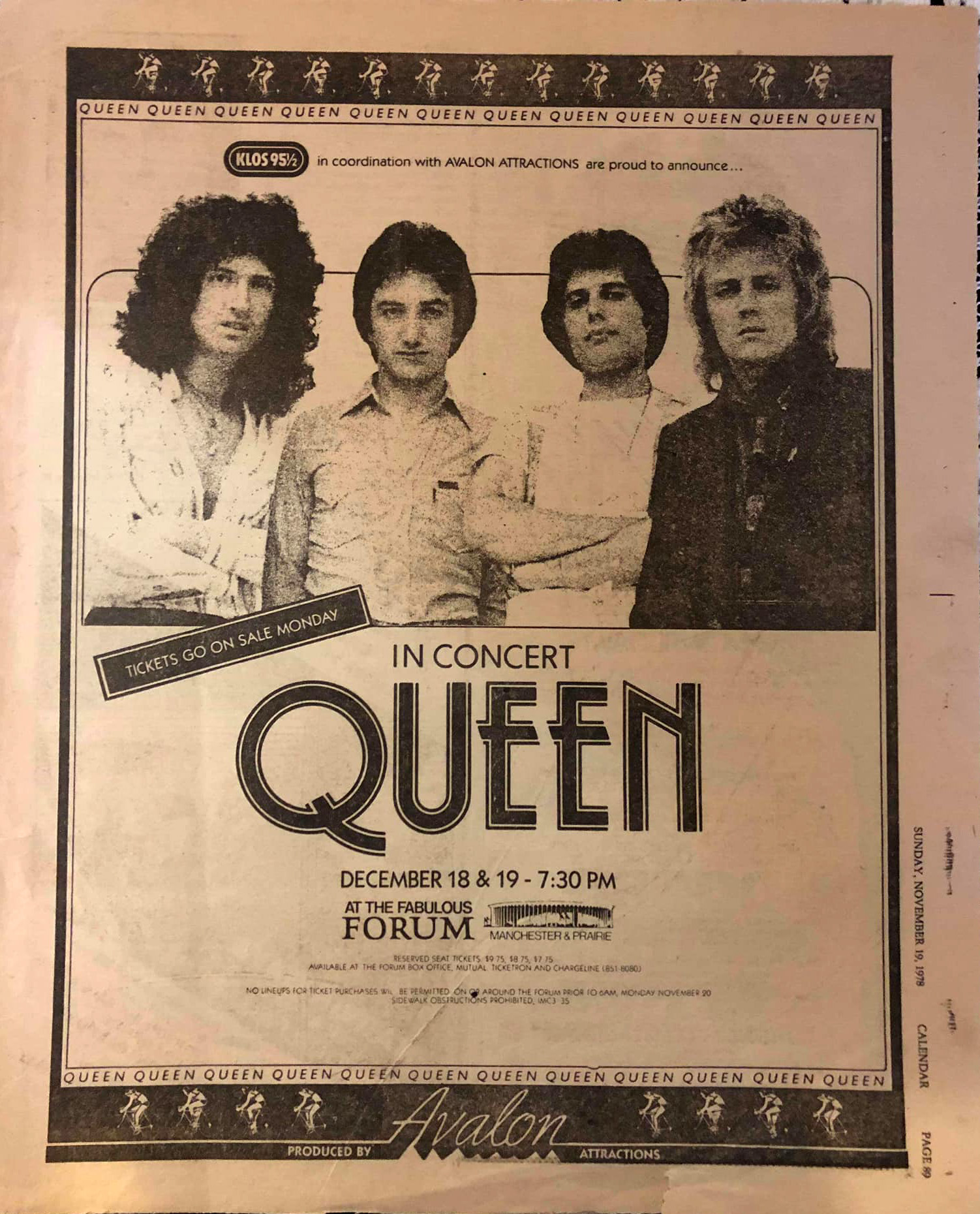 Queen in Los Angeles on 18.12.1978