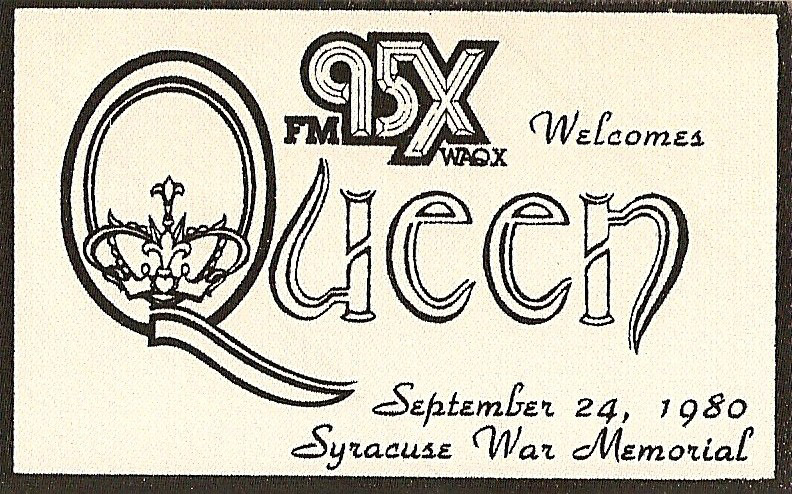 Promo flyer or ad: Queen in Syracuse on 24.9.1980