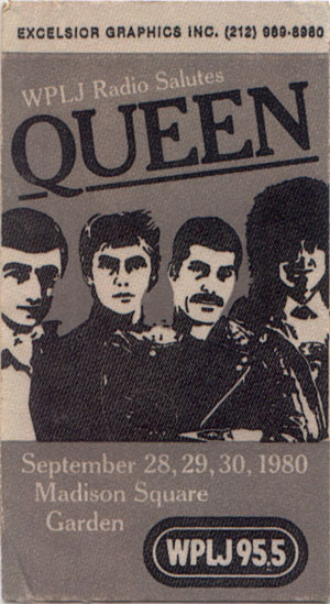 Queen in New York on 28. - 30.9.1980