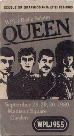 Flyer/ad - Queen in New York on 28. - 30.9.1980