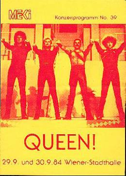 Flyer/ad - Queen in Vienna on 29. - 30.9.1984