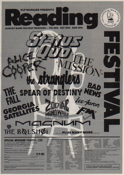 Bad News in Reading on 29.8.1987 (with Brian)
