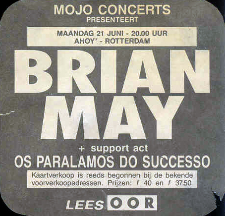 Brian May in Rotterdam on 21.6.1993