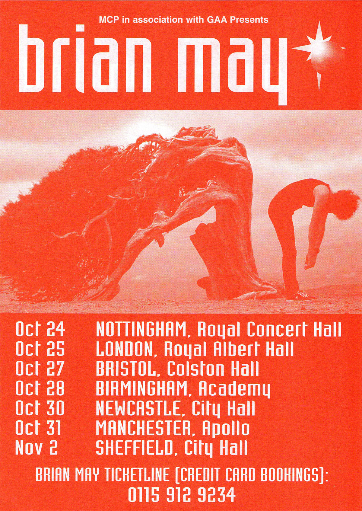 Brian May in the UK in 1998