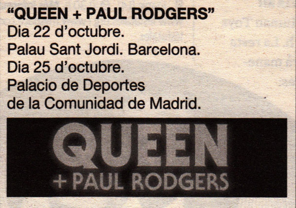 Queen + Paul Rodgers in Barcelona on 22.10.2008