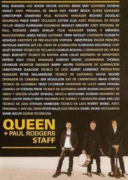 Flyer/ad - Queen + Paul Rodgers in Buenos Aires on 21.11.2008