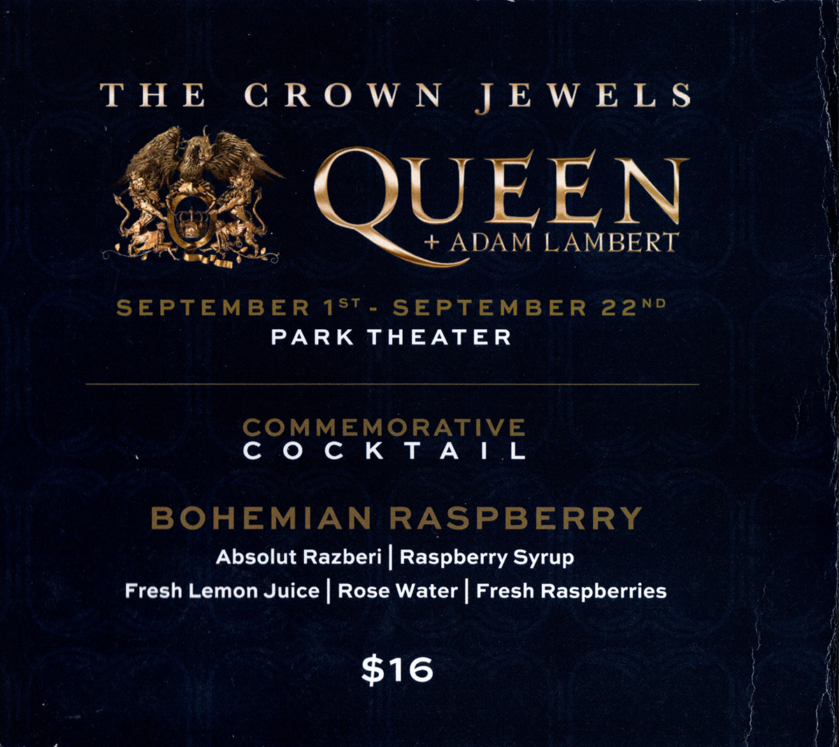 Queen + Adam Lambert in Las Vegas in September 2018