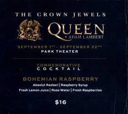 Flyer/ad - Queen + Adam Lambert in Las Vegas in September 2018