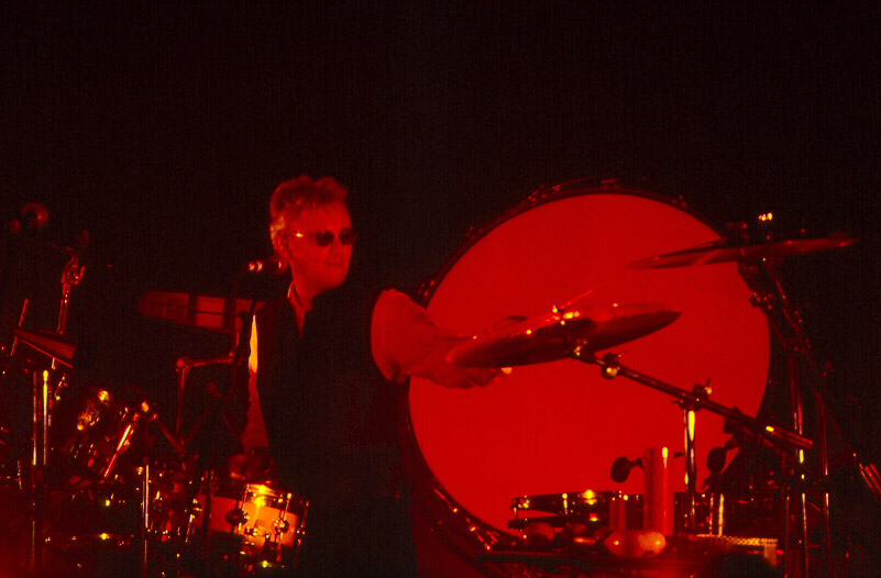Roger Taylor on drums
