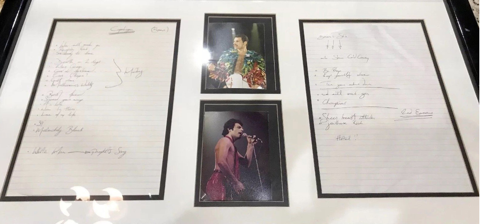 FAKE Queen setlist - fake Freddie's handwriting