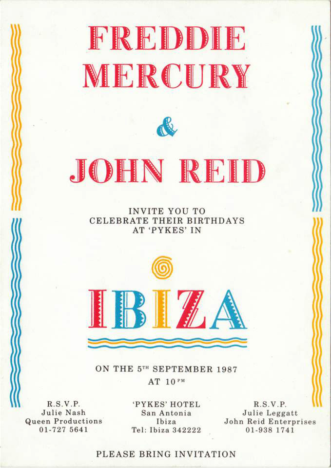 Freddie Mercury's 41st birthday party - Ibiza