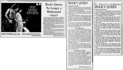 Newspaper review: Queen live at the Forum, Inglewood, CA, USA [03.03.1977]