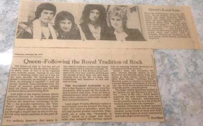 Newspaper review: Queen live at the Capital Centre, Landover, MD, USA [29.11.1977]