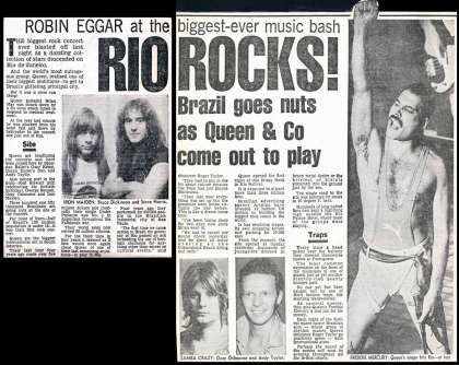 Newspaper review: Queen live at the Barra of Tijuca (Rock In Rio), Rio De Janeiro, Brazil [11.01.1985]