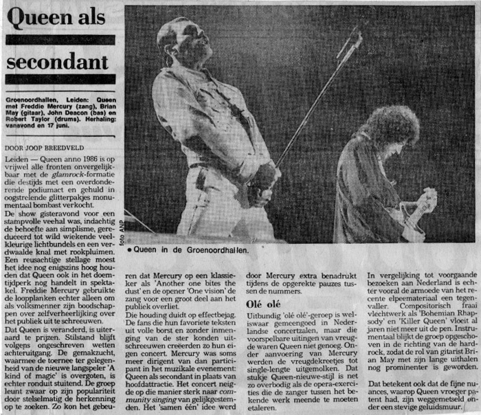 Newspaper review of a concert