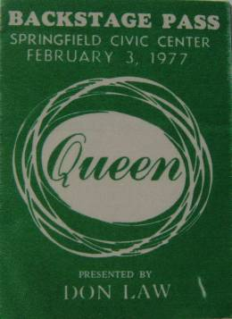 Ottawa 3.2.1977 backstage pass
