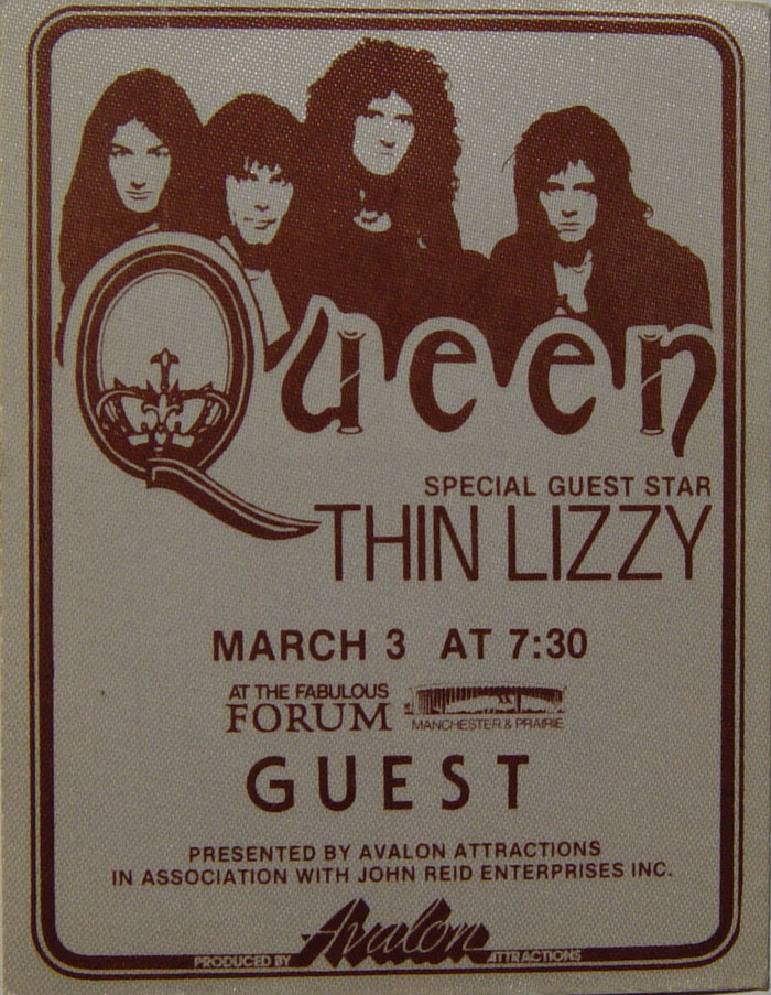 Los Angeles 3.3.1977 guest pass