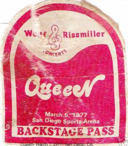 San Diego 5.3.1977 guest pass