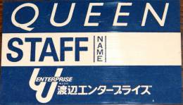 Brian Spencer's Japanese tour 1979 AAA pass